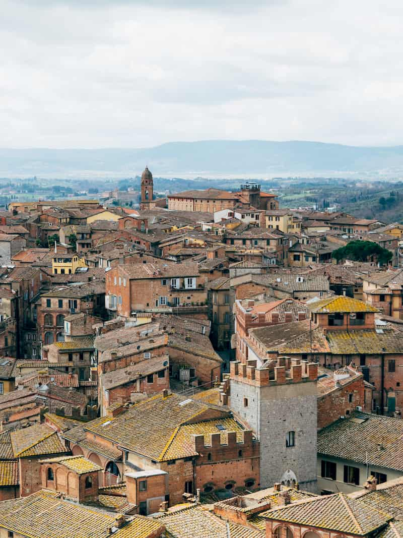Overview of Siena, Tuscany, Italy