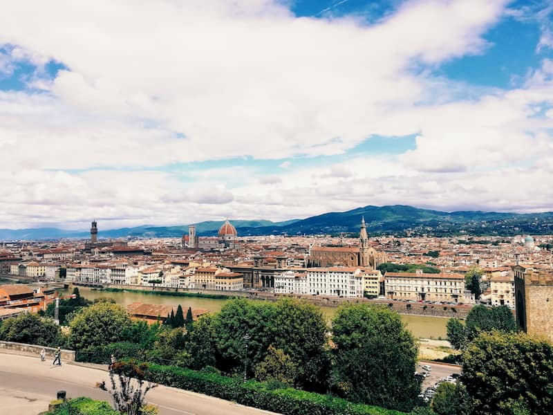 Florence overview of city centre